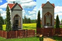 Kapliczka przy drodze przy drodze z Warzna do Karczemek