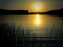 zachód słońca nad Jeziorem Długim