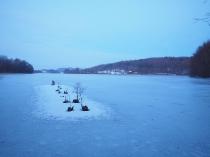 Chmielno Jezioro Białe zimą-1