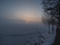 Chmielno Jezioro Białe zimą-5
