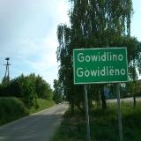GOWIDLINO Tablica wjazdowa do wioski