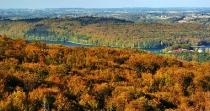 Jesienny widok z Wieżycy