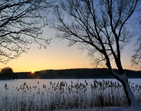 Zima Jezioro Ostrzyckie