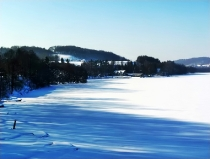 Jezioro Ostrzyckie zima_3